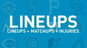 MLB Projected Starting Lineups, Matchups and Injury News 4/4/19