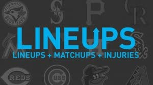 MLB Projected Starting Lineups, Matchups and Injury News 4/2/19