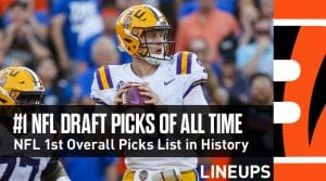 NFL 1st Overall Picks List in History