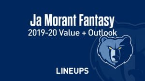 Ja Morant Fantasy Outlook & Value 2019-2020