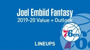 Joel Embiid Fantasy Outlook & Value 2019-2020