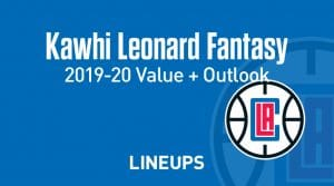 Kawhi Leonard Fantasy Outlook & Value 2019-2020