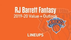 RJ Barrett Fantasy Outlook & Value 2019-2020