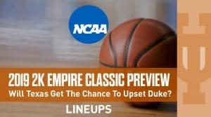 2K Empire Classic (11/21-22): Preview and Predictions