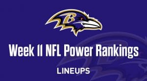Week 11 NFL Power Rankings