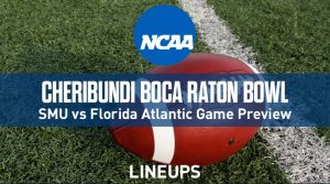 Cheribundi Boca Raton Bowl (12/21/19): SMU vs. Florida Atlantic