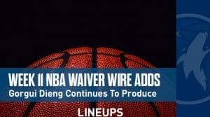 Week 11 NBA Waiver Wire Adds: Gorgui Dieng Continues To Produce In Town's Absence
