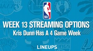 Week 13 NBA Streaming Options: Kris Dunn Has A Four Game Week