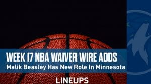 Week 17 NBA Waiver Wire Adds: Malik Beasley Has New Role In Minnesota