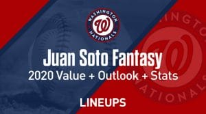 Juan Soto Fantasy Baseball Outlook & Value 2020