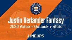 Justin Verlander Fantasy Baseball Outlook & Value 2020