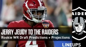 Rookie Wide Receiver Draft Predictions and Fantasy Projections