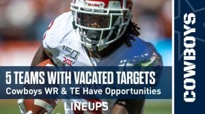 5 NFL Teams With Highest Number of Vacated Targets 2020