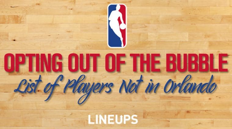 List Of NBA Players Opting Out Of NBA Bubble in Orlando