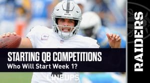 Starting QB Competitions for the 2020 NFL Season