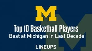 Top 10 University of Michigan Basketball Players of the Decade