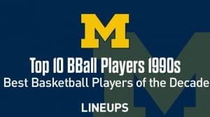 Top 10 University of Michigan Basketball Players of the Decade: 1990s