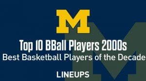 Top 10 University of Michigan Basketball Players of the Decade: 2000s