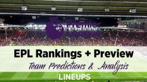 2020-2021 Premier League Rankings, Predictions and Preview