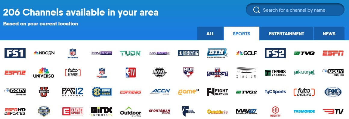 sports streaming fubo tv