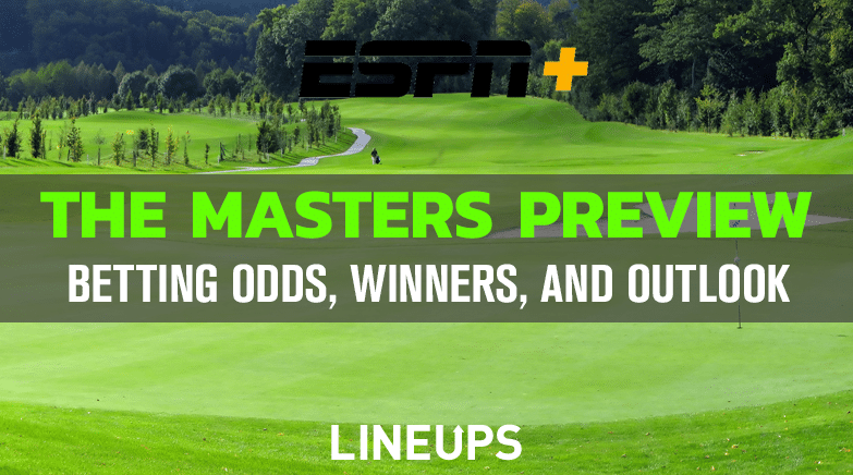 the masters golf betting odds