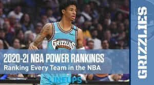 2021 NBA Power Rankings (Updated 1-19-2021)