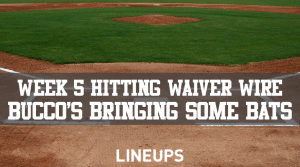 MLB Week 5 Hitting Waiver Wire: A Couple Pirates Players That Should Be Rostered