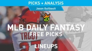 DraftKings MLB Daily Fantasy Picks 8/4/20