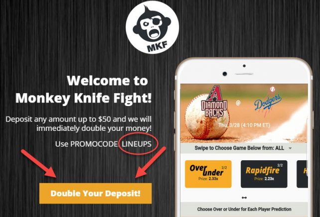 lineups promo code monkey knife fight
