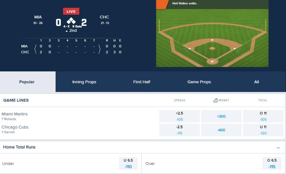 live betting fanduel sportsbook