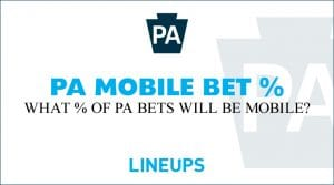 What Percentage of Pennsylvania Sports Bets Will be Mobile?
