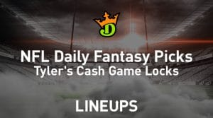 DraftKings NFL Daily Fantasy Cash Game Picks Week 13