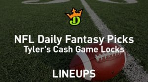DraftKings NFL Daily Fantasy Cash Game Picks Week 12