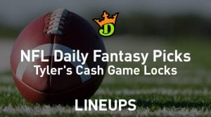DraftKings NFL Daily Fantasy Cash Game Picks Week 2