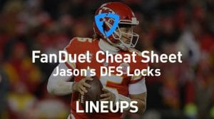 FanDuel NFL Divisional Round Cheat Sheet: Daily Fantasy Rankings, Projections, Stacks (Download Free)
