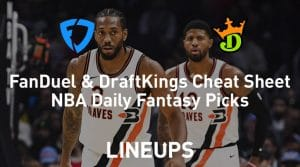FanDuel & DraftKings NBA Cheat Sheet 2/28/20