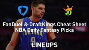FanDuel & DraftKings NBA Cheat Sheet 3/2/20