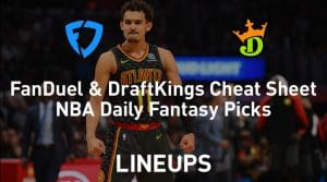 FanDuel & DraftKings NBA Cheat Sheet 3/6/20