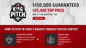 DraftKings King of the Pitch 2020: Best Daily Fantasy Soccer Contest of the Year