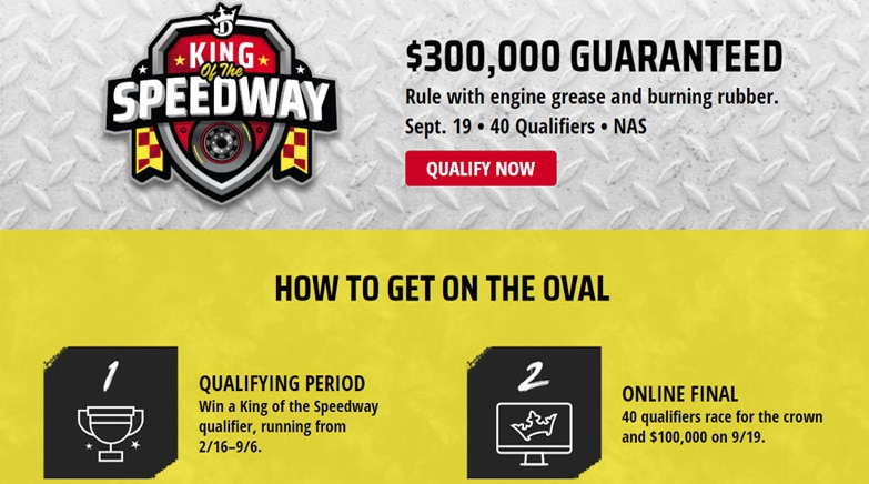 draftkings king of the speedway