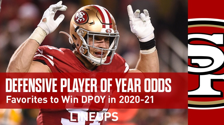nfl defensive player of year odds 2020