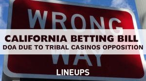 California Pullls Sports Betting Bill Due to Tribal Casinos Opposition