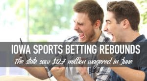Iowa Sports Betting Handle Improves to $12.7 Million for June