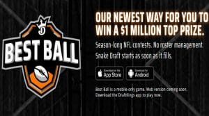 DraftKings Best Ball – A New Approach to Fantasy Football