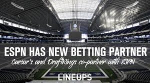 Caesar's Entertainment and DraftKings Form Multi-Year Partnership with ESPN