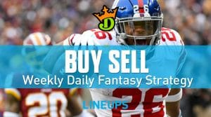 DraftKings NFL Week 2 Buy Sell + Optimal DFS Lineups