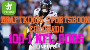DraftKings Colorado Sports Betting Promo Code Week 2: $1,000 Bet + 100-1 Odds