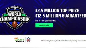 DraftKings Fantasy Football World Championship 2020