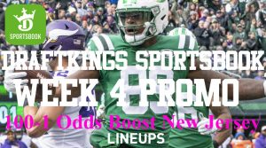 DraftKings New Jersey NFL Week 4 Promotion: 100-1 Odds Boost on Any Game