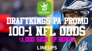 DraftKings Pennsylvania Promotion – 100-1 On Any Week 2 NFL Game